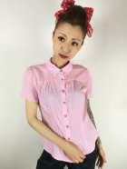 他の写真1: ☆Collectif☆ AVERY POLKA DOT BLOUSE Pink 15号