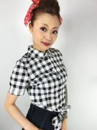 他の写真2: ☆Collectif☆SAMMY VINTAGE GINGHAM TIE BLOUSE 17号