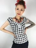 ☆Collectif☆ DOLORES VINTAGE GINGHAM TOP 7号