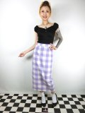 ☆Collectiff☆OPAL OVERSIZED CHECK SKIRT White/Purple 15号
