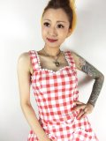 ☆Collectif☆LOTTIE VINTAGE GINGHAM TOP Red 9号