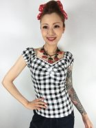 他の写真1: ☆Collectif☆ DOLORES VINTAGE GINGHAM TOP 17号