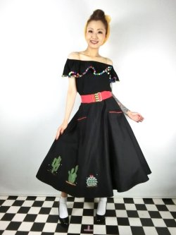 画像2: ☆Collectif☆ SILVIA CACTUS SWING SKIRT 17号