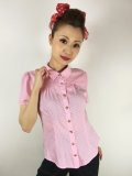 ☆Collectif☆ AVERY POLKA DOT BLOUSE Pink 13号