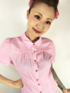 他の写真2: ☆Collectif☆ AVERY POLKA DOT BLOUSE Pink 15号
