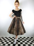 ☆HELL BUNNY☆Panthera 50s Skirt(XL)19号