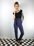 ☆Collectif☆KLOMA PLAIN TROUSERS Navy 13号