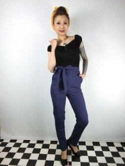 画像1: ☆Collectif☆KLOMA PLAIN TROUSERS Navy 17号