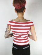 他の写真3: SOURPUSS ☆STRIPE SANDY TOP RED/WHITE (M) 11号