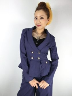 画像1: ☆Collectif☆VICKY PLAIN JACKET Navy 13号