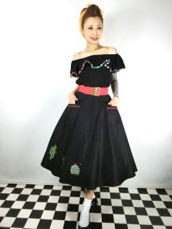 画像1: ☆Collectif☆ SILVIA CACTUS SWING SKIRT 15号