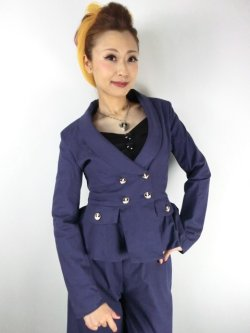 画像2: ☆Collectif☆VICKY PLAIN JACKET Navy 13号