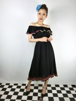 画像1: ☆Collectif☆RONDA POM POM SWING DRESS 11号