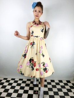 画像1: ☆H&R☆Yellow Rose Swing Dress 17号