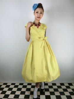画像1: ☆Collectif☆JOICE PLAIN SWING DRESS 15号