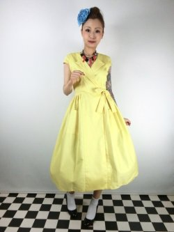 画像2: ☆Collectif☆JOICE PLAIN SWING DRESS 15号
