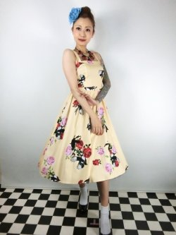 画像2: ☆H&R☆Yellow Rose Swing Dress 17号
