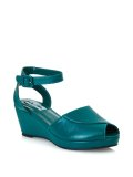 ☆Collectif☆LULU HUN SIMONA WEDGE-Green UK7(日本サイズ 約26.5cm)