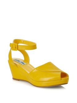 画像1: ☆Collectif☆LULU HUN SIMONA WEDGE-Yellow UK7(日本サイズ 約26.5cm)
