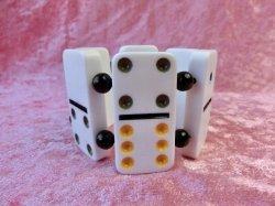 画像1: Dominoブレスレット White×Black