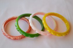 画像3: ☆Loretta Lou Jewels☆Marbled Bangle E-Red