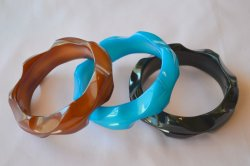 画像3: ☆Loretta Lou Jewels☆Bangle Wave Design G-Blue