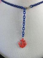 他の写真3: Wood MahJongg ネックレス Blue Coin×Blueチェーン