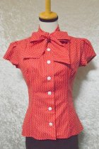 他の写真1: ☆Heart of Haute☆ Estelle Blouse - Polka Dot Red(XL)15号