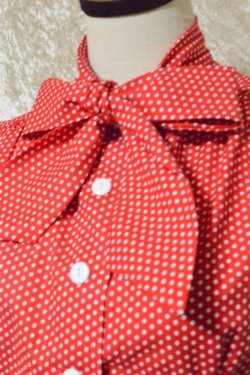 画像2: ☆Heart of Haute☆ Estelle Blouse - Polka Dot Red(XL)15号