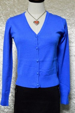 画像1: ☆H&R☆Midnight Blue Cardigan (M) 11号
