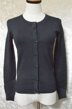 画像1: ☆H&R☆Black Round neck Cardigan (L) 13号