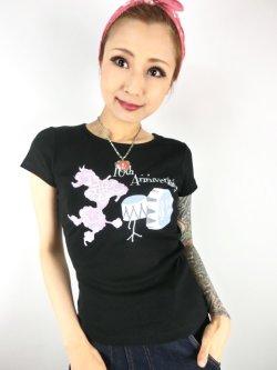 画像2: チェリハニプリント☆Drum PoodleTシャツ Black Size S