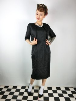 画像2: ☆Lindy Bop☆Amanda Black Pencil Dress and Jacket Twin Set 13号