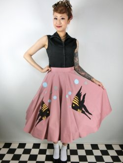 画像4: Tropical Fish・サーキュラースカート Pink (11号)