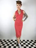 ☆Collectif☆Mary Lou Pencil Dress Red 9号