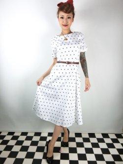 画像2: ☆Collectif☆Abby Polka Dot Swing Dress 17号