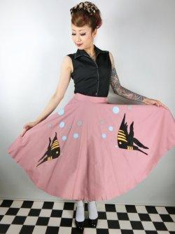 画像1: Tropical Fish・サーキュラースカート Pink (11号)