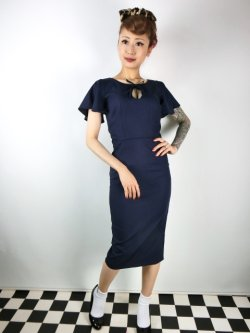 画像2: ☆Collectif☆SELMA PENCIL DRESS Navy 17号
