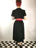 他の写真3: Vivien of Holloway Tea Dress Black Red Piping Size12(11号)