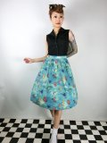 ☆Lindy Bop☆Pryia Green SeaHorse Friends Print Swing Skirt 11号