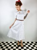 ☆Collectif☆Abby Polka Dot Swing Dress 7号