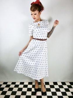 画像1: ☆Collectif☆Abby Polka Dot Swing Dress 17号