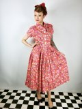 Vivien of Holloway Kitty Dress HelterSkelter Red Size14(13号)