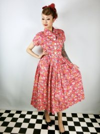 Vivien of Holloway Kitty Dress HelterSkelter Red Size12(11号)
