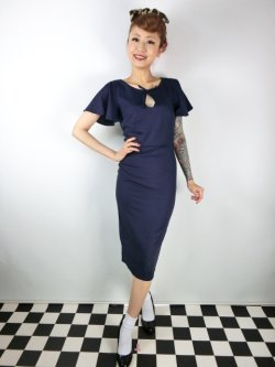 画像1: ☆Collectif☆SELMA PENCIL DRESS Navy 17号