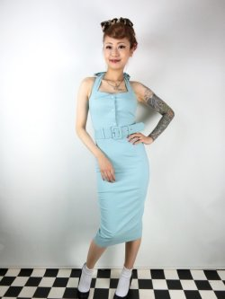画像2: ☆Collectif☆WANDA PLAIN PENCIL DRESS Light Green 7号