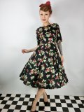 ☆HELL BUNNY☆Cherie 50s Dress 15号