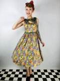 ☆Lindy Bop☆Molly Anne Goldfinch Print Party Dress 9号