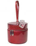 MINI TAYLOR HAT BOX VENOM RED SPARKLE