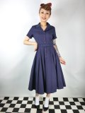 ☆Collectif☆CATERINA SWING DRESS Navy 17号